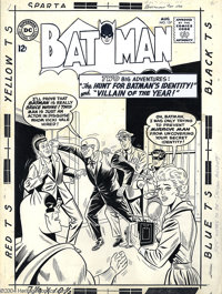 """Sheldon Moldoff - Original Cover Art for Batman #157 (DC, 1963). Looks like """"helpful"""" Vicki Vale is about to a..."""