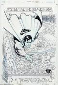 Original Comic Art:Splash Pages, Ariel Olivetti - Original Splash Page Art for Superman #179, page 1(DC, 2002). Ariel Olivetti captures The Man of Steel in ...