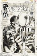 Original Comic Art:Covers, Jerry Ordway - Original Cover Art for Adventures of Superman #455(DC, 1989). Jerry Ordway has drawn this cover on Craftint ...
