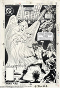 Original Comic Art:Covers, Ron Randall - Original Cover Art for Arak #35 (DC, 1984). Arak ismenaced by a ghostly angel wielding a fiery doom-sword. Ro...