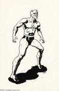Original Comic Art:Sketches, Spain Rodriguez - Original Illustration for The Daredevil Chronicles (FantaCo, 1982). Now here's something that you don't se...