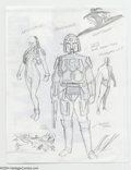 Original Comic Art:Sketches, Alex Ross - Original Sketch of the Charlton Action Heroes(undated). A superb Alex Ross sketch of Charlton's fondlyremember...
