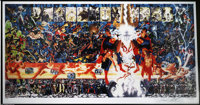 "Alex Ross and George Perez - ""Crisis On Infinite Earths"" Limited Edition Print, #184/350 (Warner Brothers, 200..."