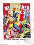 Original Comic Art:Covers, Joe Simon - Original Art Cover Recreation of Mystery Men Comics #11(undated). One of the legends in the field, Joe Simon's ...