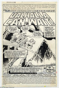 Original Comic Art:Splash Pages, Herb Trimpe and Pablo Marcos - Original Art for The Defenders #68,page 1 (Marvel, 1979). The title splash page for the thir...