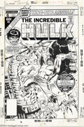 Original Comic Art:Covers, Herb Trimpe - Original Cover Art for Hulk Annual #6 (Marvel, 1977).Dr. Strange and the Hulk raise a ruckus in a science lab...