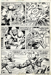 George Tuska and Mike Esposito - Original Art for Iron Man #61, pages 7 and 10 (Marvel, 1973). Steele manages to snatch...