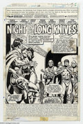 Original Comic Art:Splash Pages, Mike Vosburg and Ernie Chan - Original Art for John Carter Warlordof Mars #26, page 1 (Marvel, 1979). Nifty title splash pa...