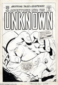 Original Comic Art:Covers, Ogden Whitney - Original Cover Art for Adventures into the Unknown#123 (ACG, 1960). A giant, manacled hand grasps for a bus...