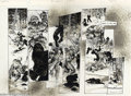 Original Comic Art:Splash Pages, Michael Zulli - Original Art for Teenage Mutant Ninja Turtles #31,pages 24 and 25 (1990s). Exceptionally dramatic two-page ...