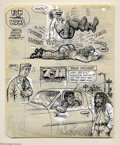 """Original Comic Art:Sketches, Robert Crumb - Original Sketchbook Page, """"Fun with Buns"""" (1970s). R. Crumb gets to the point with this page out of one of hi..."""