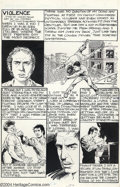 "Original Comic Art:Complete Story, Harvey Pekar and Val Mayerik - Original Art for American Splendor#10, Complete 5-page Story, ""Violence"" (Harvey Pekar, 1985)...."