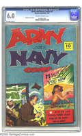 Golden Age (1938-1955):War, Army and Navy Comics #1 (Street & Smith, 1941) CGC FN 6.0 Off-white to white pages. Jack Farr cover and art. This series wou...