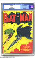 Golden Age (1938-1955):Superhero, Batman #1 (DC, 1940) CGC FN+ 6.5 Off-white pages. One of the most coveted comics of the Golden Age, Batman #1 offers man...