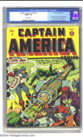 Golden Age (1938-1955):Superhero, Captain America Comics #3 (Timely, 1941) CGC FN/VF 7.0 Off-white pages. This third issue is famous for several reasons; it's...