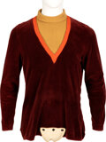 """Movie/TV Memorabilia:Costumes, Jonathan Harris """"Doctor Smith"""" Tunic from Seasons 1 and 2 of Lost in Space (CBS TV, 1965-196..."""