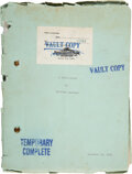 """Movie/TV Memorabilia:Memorabilia, William Faulkner Signed Contract and Unproduced Script for an MGM film titled; """"A Ghost Story"""" (1932). ... (Total: 2 ..."""