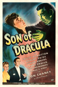 """Movie Posters:Horror, Son of Dracula (Universal, 1943). Rolled, Fine+ on Linen. One Sheet (27"""" X 41"""")...."""