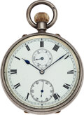 Timepieces:Pocket (pre 1900) , W.B. Crisp, London Very Fine Silver Pocket Chronometer With Unusual Rotating Wind Indicator Subsidiary Dial, circa 1890