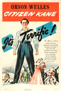 """Movie Posters:Drama, Citizen Kane (RKO, 1941). Rolled, Good on Linen. One Sheet (27"""" X 41"""") Style A...."""