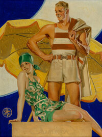 Joseph Christian Leyendecker (American, 1874-1951) Summer, The Saturday Evening Post cover, August 27, 1927 Oil on can...