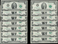 Small Size:Federal Reserve Notes, Complete District Set Fr. 1935-A-L $2 1976 Federal Reserve Notes. Crisp Uncirculated or Better;. Fr. 1935-B* $2 1976 Feder... (Total: 14 notes)