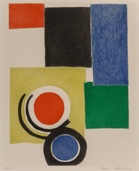 Sonia Delaunay (1885-1979) Composition with Rectangles, Circles, and Semicircles, 1970 Etching and aquatint on Arches...