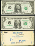 Small Size:Federal Reserve Notes, Label Set Fr. 1912-E $1 1981A Federal Reserve Notes Choice Crisp Uncirculated.. ... (Total: 3 items)