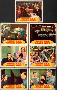 """They All Come Out (MGM, 1939). Fine+. Lobby Cards (6) (11"""" X 14"""") & Trimmed Lobby Card (11"""" X 13.33&q..."""
