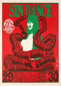 """Music Memorabilia:Posters, FD-6 Big Brother & Holding Company 1966 """"Sin Dance"""" Poster Signed by Wes Wilson. ..."""