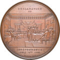 (circa-1880) Medal Declaration of Independence - Historical Tablet, Musante GW-183, MS64 Brown NGC. Bronze, 91 mm