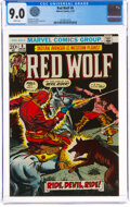 Bronze Age (1970-1979):Western, Red Wolf #6 (Marvel, 1973) CGC VF/NM 9.0 White pages....