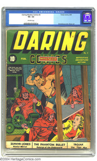Daring Mystery Comics #2 (Timely, 1940) CGC VG- 3.5 Off-white pages. This guillotine cover by Alex Schomburg features th...