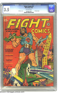 Fight Comics #3 (Fiction House, 1940) CGC VG- 3.5 Off-white pages. Will Eisner contributes this issue's cover art. Rip R...