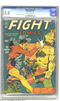 Golden Age (1938-1955):Superhero, Fight Comics #5 (Fiction House, 1940) CGC FN- 5.5 Off-white to white pages. The Power-Man knocks the block off an ogre-like ...