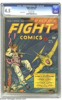 Fight Comics #8 (Fiction House, 1940) CGC VG+ 4.5 Off-white pages. George Tuska is among the artists featured in this is...