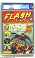 Golden Age (1938-1955):Superhero, Flash Comics #4 (DC, 1940) CGC FN/VF 7.0 Off-white pages. The Whip gets his very first, and last, cover on this fourth issue...