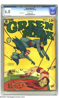 Green Mask #2 (Fox Features Syndicate, 1940) CGC FN 6.0 Off-white pages. Titillating cover. George Tuska art. Overstreet...