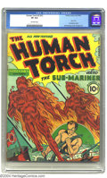 Golden Age (1938-1955):Superhero, The Human Torch 2 (#1) (Timely, 1940) CGC VF 8.0 Off-white pages. That's right! It's bold! It's bad! It's the third biggest ...