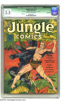Jungle Comics #3 (Fiction House, 1940) CGC Qualified VG- 3.5 Off-white to white pages. Charles Sultan cover. CGC notes...