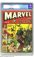 Golden Age (1938-1955):Superhero, Marvel Mystery Comics #10 (Timely, 1940) CGC VF 8.0 Off-white to white pages. The Human Torch and the Sub-Mariner conclude a...