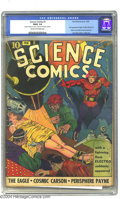 Golden Age (1938-1955):Science Fiction, Science Comics #1 (Fox, 1940) CGC FR/GD 1.5 Cream to off-whitepages. First appearance of the Eagle, Panther Woman, and Elec...