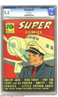 Golden Age (1938-1955):Miscellaneous, Super Comics #20 (Dell, 1940) CGC FN- 5.5 Off-white pages. Smilin' Jack fronts this newspaper strip reprint anthology. It is...