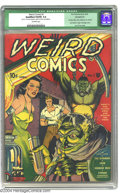 Golden Age (1938-1955):Horror, Weird Comics #1 (Fox Features Syndicate, 1940) CGC Qualified VG/FN5.0 Off-white pages. This great cover has it all! A goril...