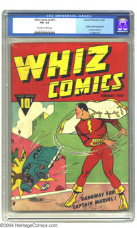 Whiz Comics #2 (#1) (Fawcett, 1940) CGC FN- 5.5 Off-white to white pages. The Lambert Collection affords yet another sup...
