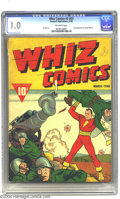 Golden Age (1938-1955):Superhero, Whiz Comics #3 (#2) (Fawcett, 1940) CGC FR 1.0 Off-white pages. Second newsstand appearance of Captain Marvel. C.C. Beck art...