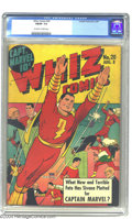 Golden Age (1938-1955):Superhero, Whiz Comics #20 (Fawcett, 1941) CGC FN/VF 7.0 Off-white to white pages. Captain Marvel versus Sivana on this dramatic cover....