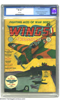Golden Age (1938-1955):Adventure, Wings Comics #1 (Fiction House, 1940) CGC VF 8.0 White pages. One of Fiction House's original titles from the early days of ...