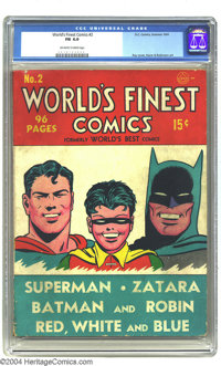 World's Finest Comics #2 (DC, 1941) CGC FN 6.0 Off-white to white pages. Even more difficult to find in grade than the p...