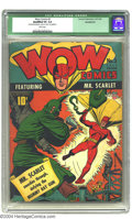 Golden Age (1938-1955):Superhero, Wow Comics #3 (Fawcett, 1941) CGC Qualified VG 4.0 White pages. One of Fawcett's earliest titles featured the exploits of th...